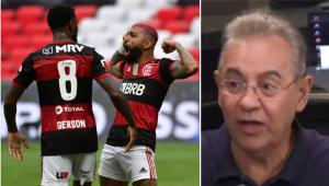 Flavio Prado exalta qualidade do Flamengo: 'É tão melhor que está ganhando pela incompetência dos outros'