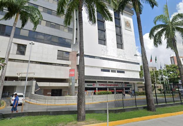 Fachada do Hospital Português em Recife