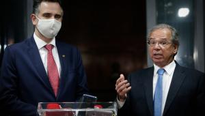 Pacheco, Lira e Guedes alinham discurso por reformas e retorno do auxílio emergencial