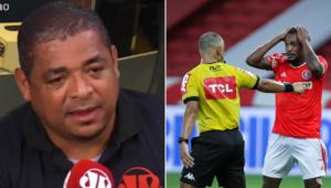 Vampeta vê Internacional prejudicado contra o Corinthians em lance polêmico; assista