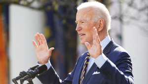 Presidente dos Estados Unidos, Joe Biden, discursa para a imprensa