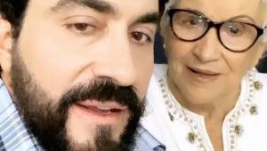 Mãe do padre Fábio de Melo em publicação no Instagram