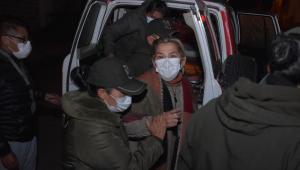Jeanine Áñez durante transferência de prisões