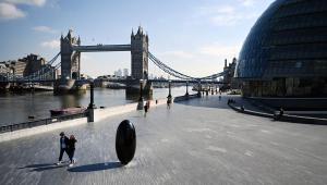 Lockdown em Londres, Inglaterra, Reino Unido