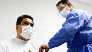 Presidente da Venezuela, Nicolás Maduro recebe 1ª dose da vacina contra a Covid-19