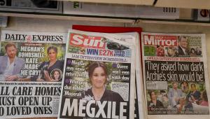 Em banca, capa dos principais jornais britânicos repercutem entrevista do príncipe Harry e de Meghan Markle à Oprah