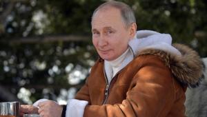 O presidente da Rússia, Vladmir Putin, durante seu tempo livre na Sibéria