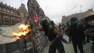Protesto pelo Dia Internacional da Mulher na Cidade do México