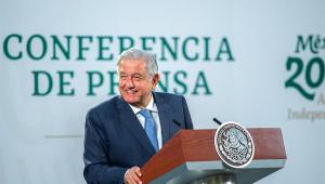 O presidente do México, Andrés Manuel López Obrador, fala durante coletiva de imprensa