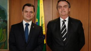 Novo ministro da Justiça, Anderson Torres, ao lado do presidente Jair Bolsonaro