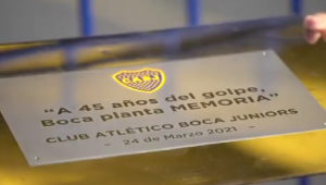 O Boca Juniors homenageou as vítimas da ditadura militar na Argentina