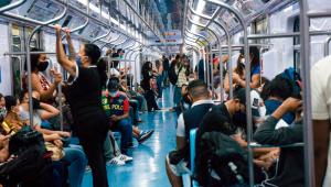 Movimento de passageiros na Linha 7-Rubi da CPTM, que liga a cidade de Franscisco Morato à Estação da Brás da CPTM, na região central da cidade de São Paulo