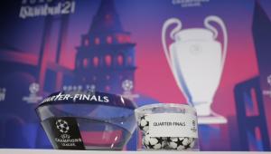 A Uefa realizou o sorteio das quartas de final da Liga dos Campeões 2020/21