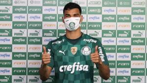 Danilo Barbosa durante apresentação no Palmeiras