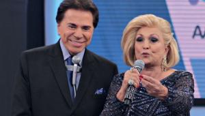 Silvio Santos e Hebe no Teleton