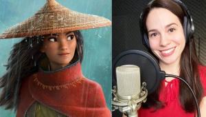 Personagem Raya e a atriz Lina Mendes