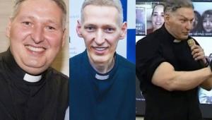 Padre Marcelo Rossi com excesso de peso, depois que emagreceu e atualmente