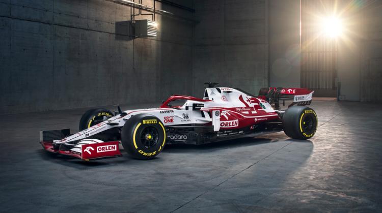 Carro da Alfa Romeo para a temporada de 2021