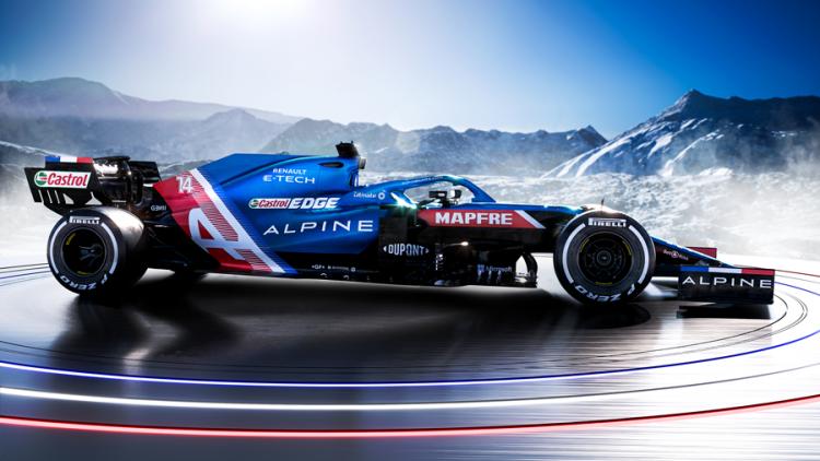 Carro da Alpine para a temporada de 2021
