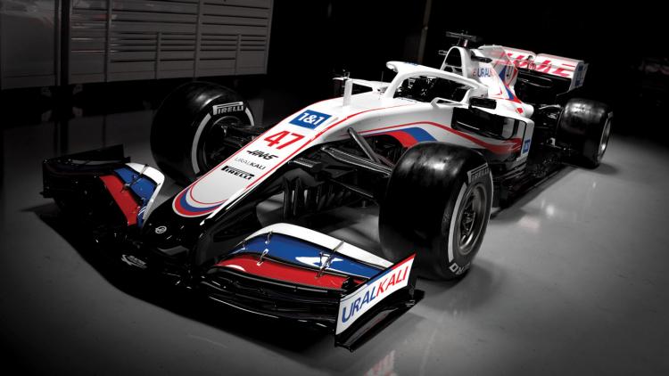 Carro da Haas para a temporada de 2021
