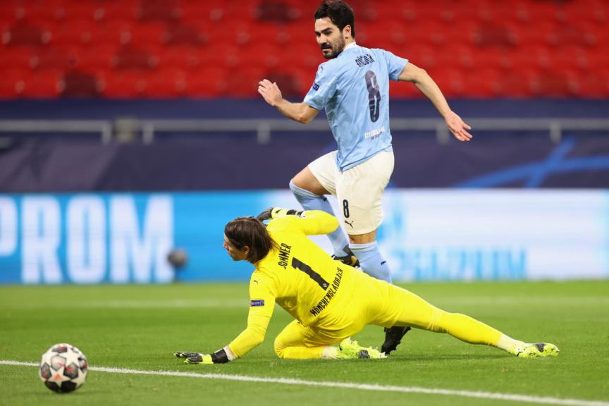 Gundogan marca gol do Manchester City na liga dos campeões