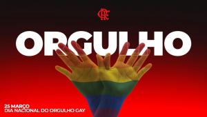 O Flamengo se posicionou contra o preconceito no Dia do Orgulho Gay