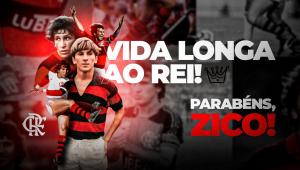 Zico completa 68 anos e é parabenizado por torcedores do Flamengo: 'Feliz Natal'