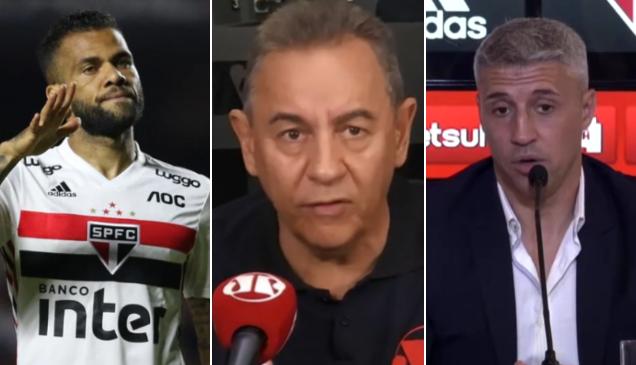 Flavio Prado revelou que Daniel Alves deve deixar o São Paulo nesta temporada