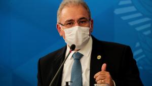 Ministro da Saúde, Marcelo Queiroga, durante pronunciamento