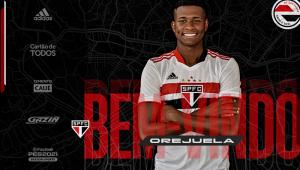 Orejuela é o segundo reforço do São Paulo para temporada 2021