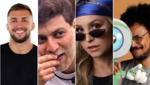 'BBB 21': Arthur, Caio, Carla Díaz e João Luiz estão no paredão falso