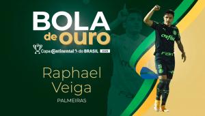 Raphael Veiga é eleito o craque da Copa do Brasil; Weverton ganha como melhor goleiro