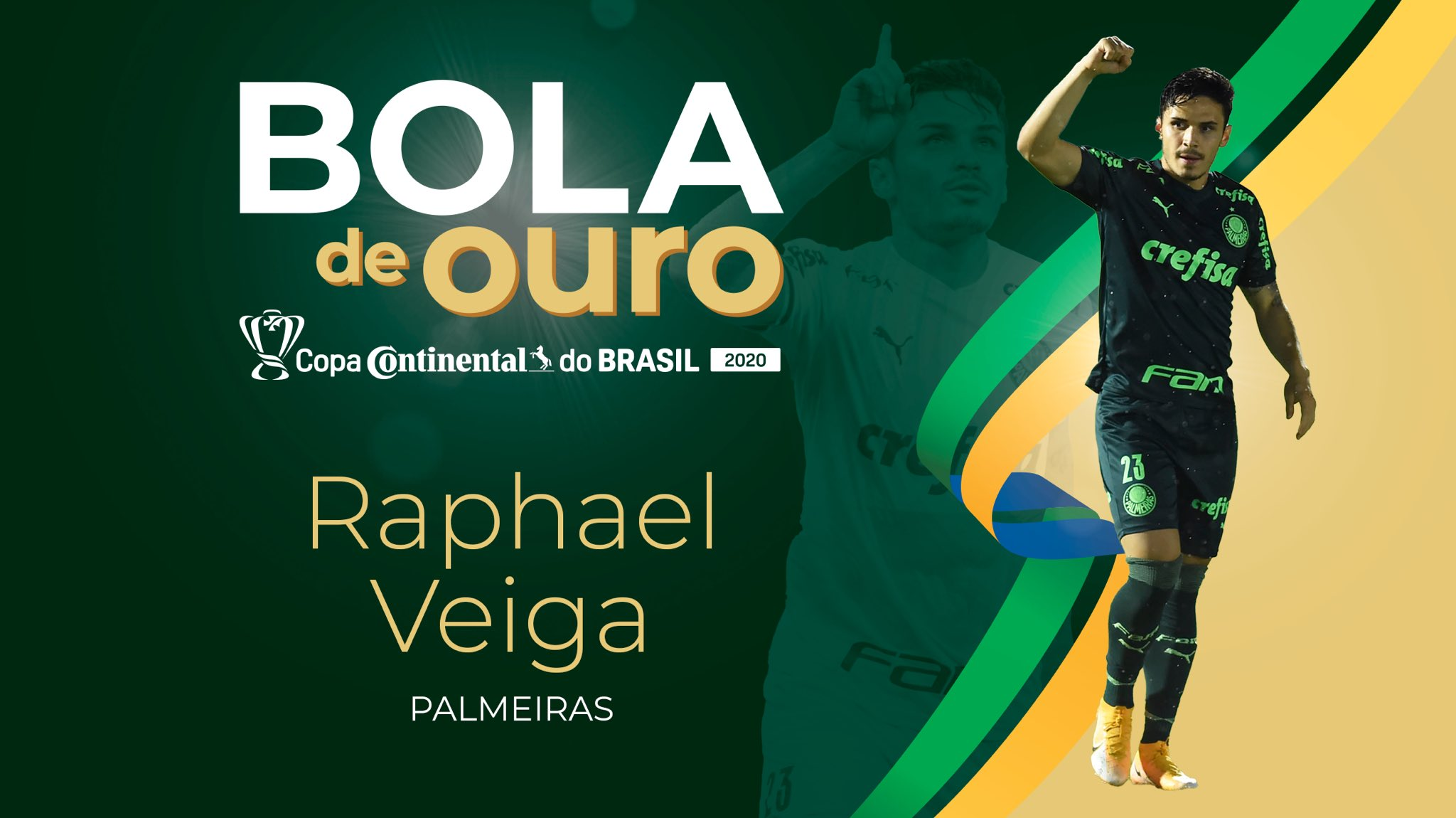 Raphael Veiga foi eleito o craque da Copa do Brasil 2020