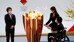 Revezamento da tocha olímpica no Japão