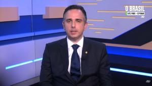 Rodrigo Pacheco, presidente do Senado, dá depoimento à Jovem Pan