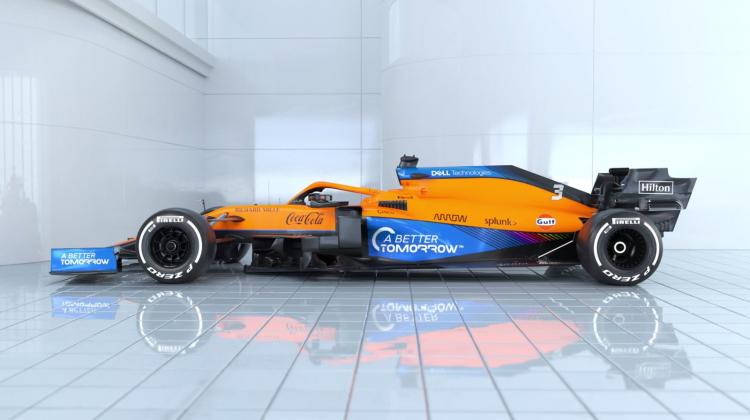 Carro da McLaren Racing para a temporada de 2021