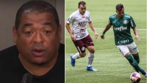 O comentarista Vampeta, do Grupo Jovem Pan, diz ser contra a paralisação no futebol