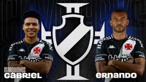 O Vasco anunciou as contratações de Marquinhos Gabriel e Ernando