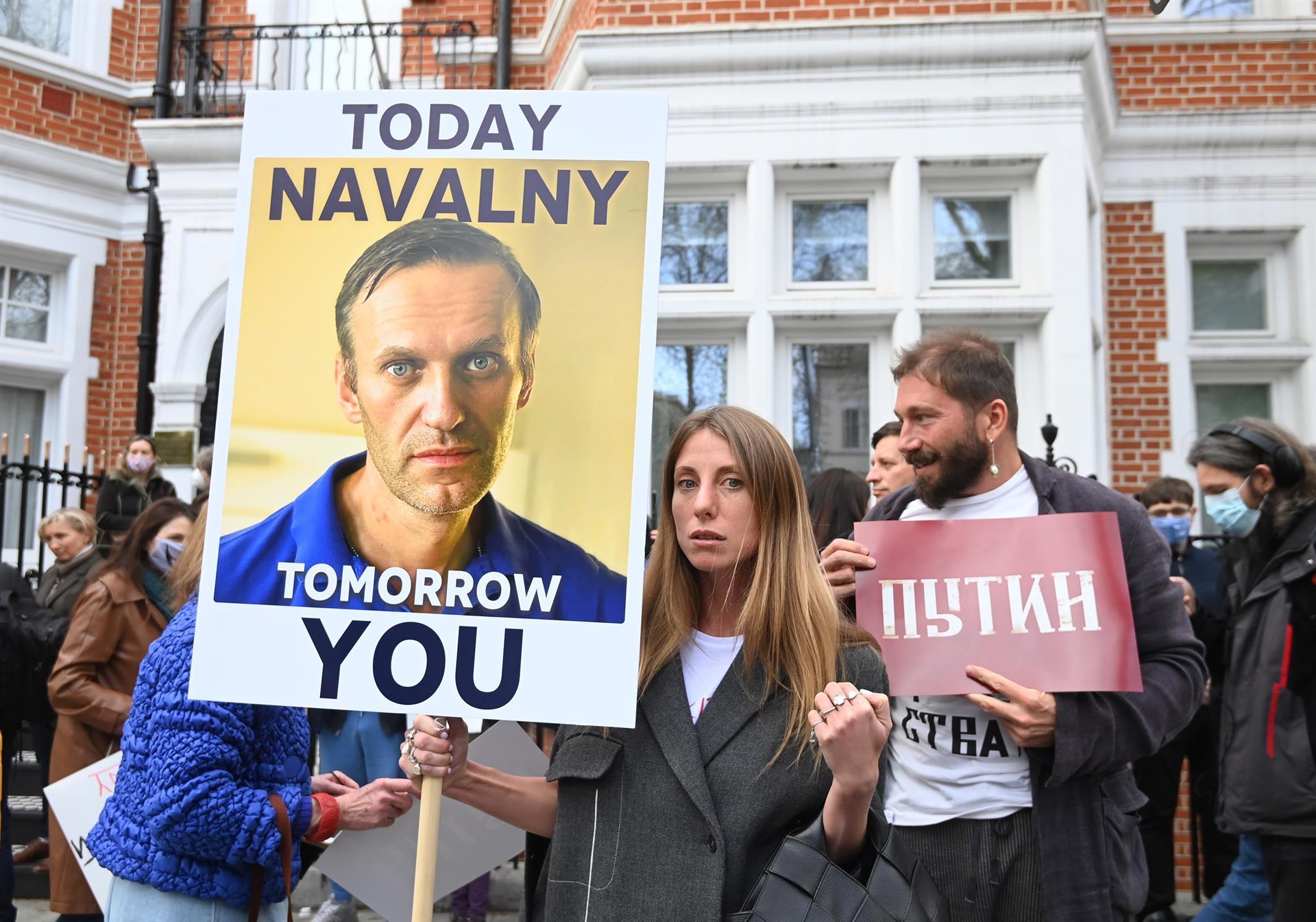 Londrinos protestam pela libertação de Alexei Navalny