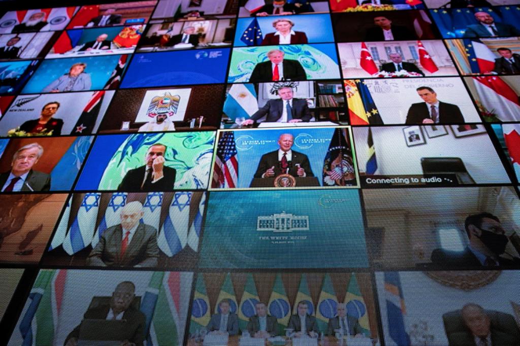 Cúpula do Clima: Líderes mundiais comemoram decisão dos EUA de zerar  emissões de carbono até 2050 | Jovem Pan