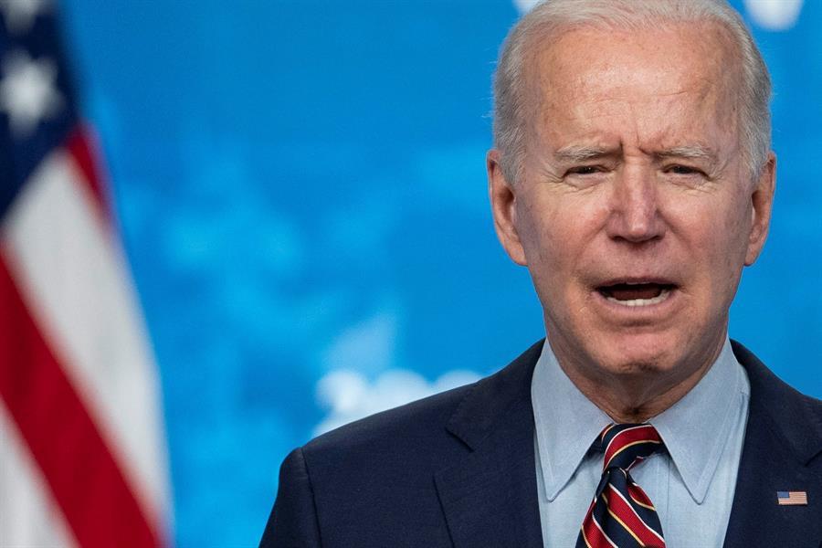 O presidente Joe Biden discursando na Cúpula do Clima