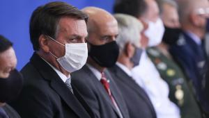 O presidente da república, Jair Bolsonaro, durante cerimônia
