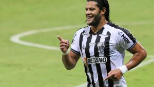 Hulk jogador do Atlético-MG comemora seu gol durante partida contra o Coimbra