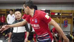 Alan Kardec fez um discurso sensacional antes de uma partida na China