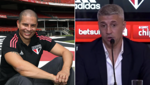 Alex e Crespo se enfrentaram na Liga dos Campeões e, hoje, trabalham juntos no São Paulo