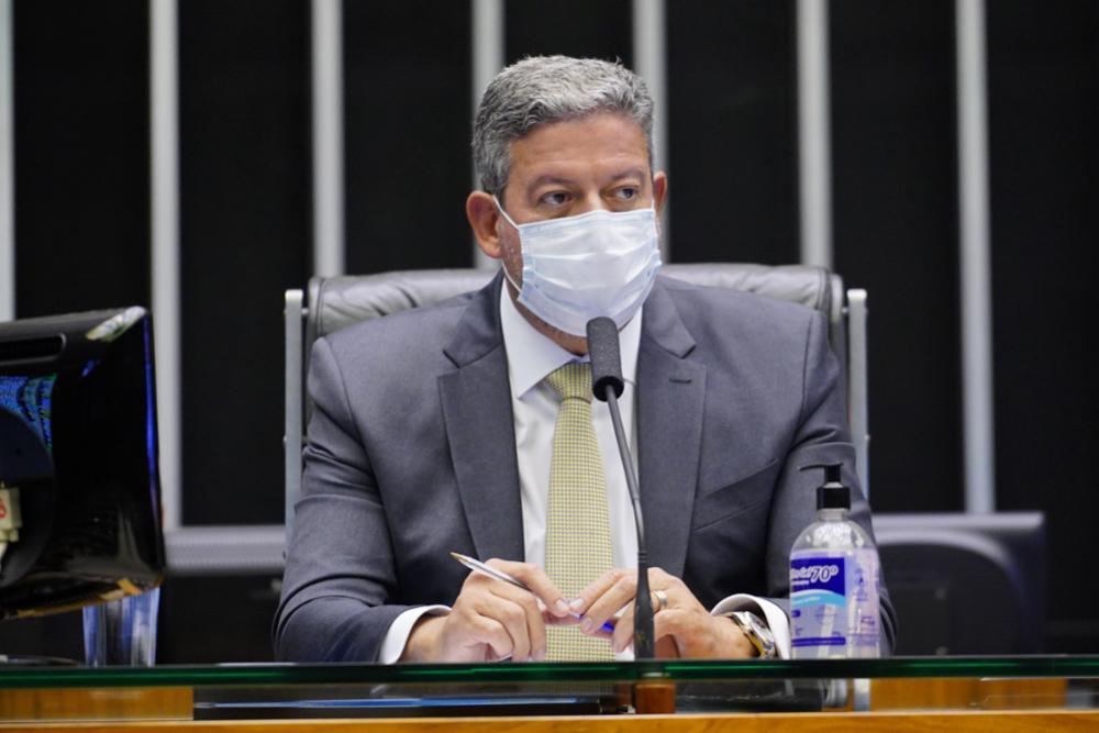 O presidente da Câmara, Arthur Lira