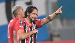 Benítez durante vitória do São Paulo na Libertadores