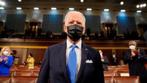 Joe Biden discursou no Congresso Nacional na véspera do seu centésimo dia como presidente dos Estados Unidos