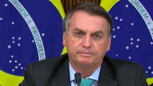 O presidente Jair Bolsonaro durante discurso na Cúpula do Clima