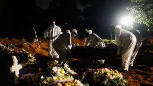 Sepultamento noturno o Cemitério da Vila Formosa, em São Paulo
